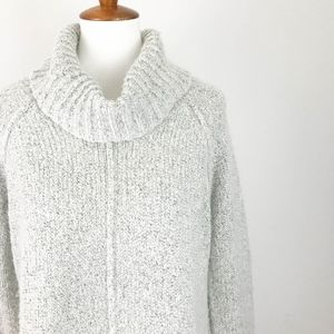 Sanctuary Sweaters - Sanctuary Cowl Neck Sweater Large Gray Side Slits